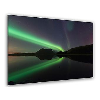 Aurora borealis søbord i Norge