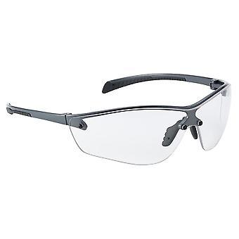 """Sicherheit SILPPSI """"Silium +"""" Schwarze Schutzbrille, Klare Objektive, Einheitsgröße"""