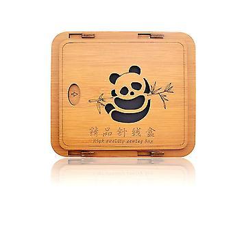 New Wedding Home Gift Sewing Box Set 24 Colors Sewing Nail-free Artwork Panda Sewing Kit ES9857