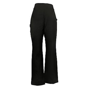 IMAN Global Chic Women's Pants 360 Slim Ponte Boot-Cut Pant Black 722609001