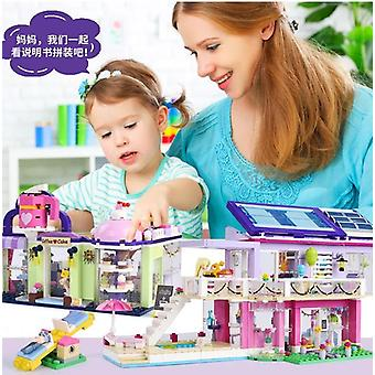 Maria's cafe coffee cake shop building blocks bricks education sets toys for girls gift compatible with friends