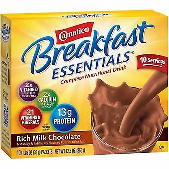 Nestlé Healthcare Nutrition Supplément oral Supplément Petit déjeuner Essentiel, Riche saveur de chocolat au lait, 10 Compte