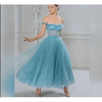 Off The Shoulder Appliques A Line Formal Evening Dresses