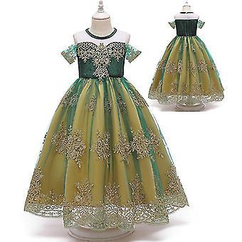 Jäädytetty Anna Queen Lasten mekko Prinsessa Mekko Cosplay Puku(110CM)