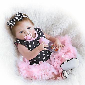 46Cm كامل سيليكون الفينيل تولد من جديد طفلة دمى العلامة التجارية الاطفال لعب الاطفال هدية brinquedo bonecas
