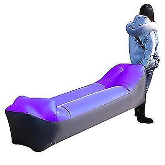 Chaise longue gonflable Canapé Air Hamac Portable Étanche à l'eau Anti Fuite d'air (Violet)