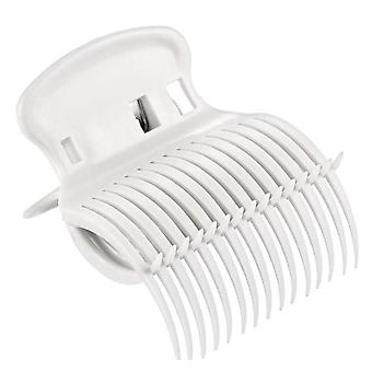 12Pcs Roller Clips Hair Curler Clips Replacement Hot Roller Claw Clips Heat Resistant(White)
