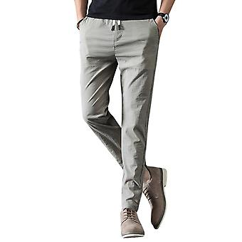 Yunyun Herren Solid Color Lace-up Casual Hose