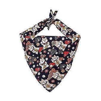 S black dog bandanaclassic plaid snowflake pet triangle bibs scarf accessories x2583