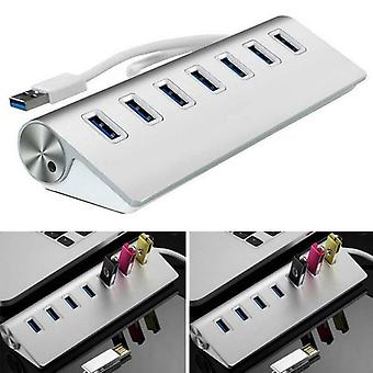 USB 3.0 7-Port Hub Adapter for PC Notebook Laptop Desktop Easy To Carry Durable