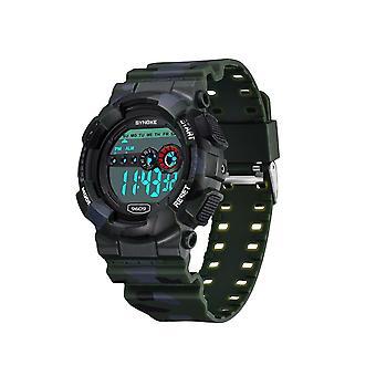 Camouflage elektronisch horloge mannen multifunctionele outdoor sporthorloge groen