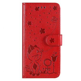 Luxury Flip Embossing Case For Moto E7 Pu Leather Holder Stand Wallet Bags Cover