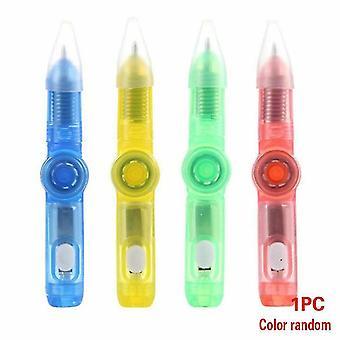 Led Spinning Ball Pen Fidget Hand Spinner Toy-glow In Dark Light