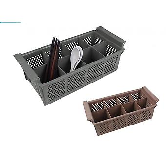 Heavy Duty Commercial Cutlery Rack Drainer 8 Section Basket Tray Holder