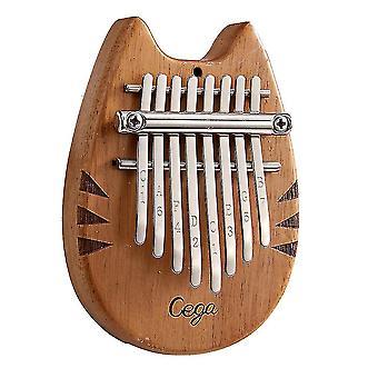 8 Keys kalimba thumb piano totoro mini wooden musical instrument for beginners