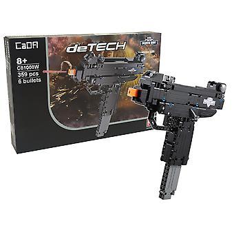 CaDA géppuska - Építőkészlet - 359 építőelem - 25 cm