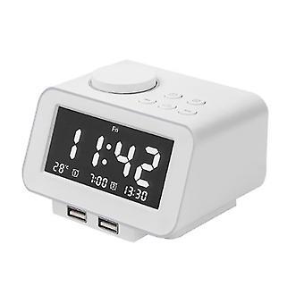 Computer racks mounts multifunctional electronic alarm clock creative digital smart bedside alarm clock radio suitable for