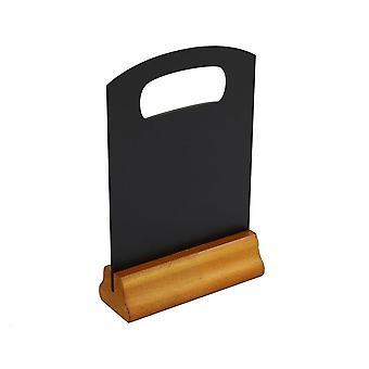 Træ skiltning Menu Stand A5 størrelse dobbeltsidet 150x190 Mm