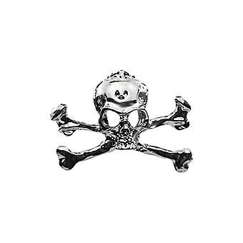 Nouveau Halloween Gun Black Skull Punk Tendance Corsage Pin