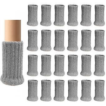 24 Pièces de Chaise Protecteur de Jambe Tricot Meubles Pied Chaussettes Plateforme Meubles Chaussures