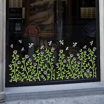 Bloemen en planten Ramen Stickers Muursticker Plint Glas Decor