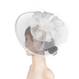 Свадебные сетки перо hairpin ручной работы Цветок Свадебный головной убор Украшения
