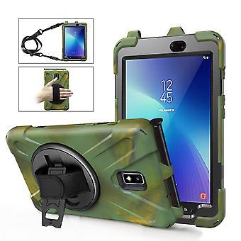 Support rotatif à 360 degrés Hand Strap + Shoulder Strap + Pen Slot, Tablet Protective Cover Tab Active2-8 T390, tab Active2-8 T395, tab Active2-8 T397 P