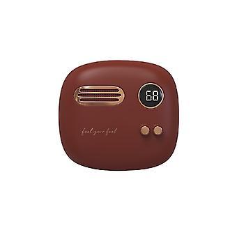 bærbar liten retro søt lading håndvarmer med mobil kraft vintervarmer gaverød