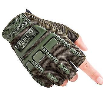 Männer Halbfinger Radfahren Outdoor Fitness Handschuhe (Grün)
