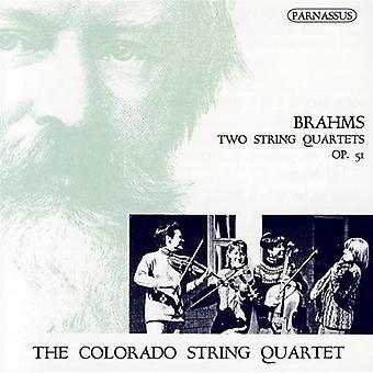 Colorado Quartet - Brahms: Two String Quartets, Op. 51 [CD] USA import