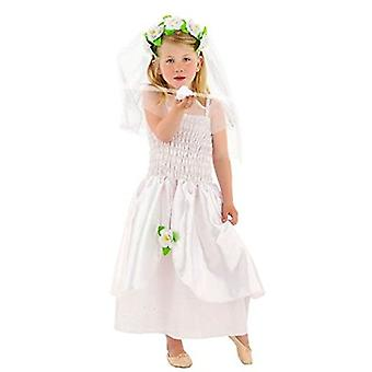 Vestido de noiva vestido de noiva fantasia de crianças infantil traje da menina de flor