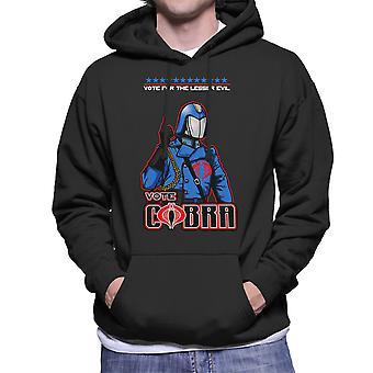 GI Joe Vote Cobra Commander Lesser Evil Men's Hooded Sweatshirt