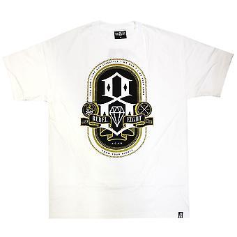 Rebel8 saber seu direitos t-shirt branca