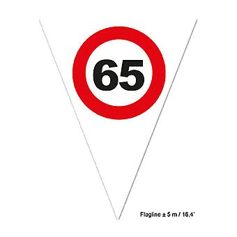 Party favors  Decoration flags 65 with road sign 5m