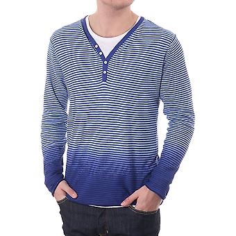 Scotch & Soda Mens Ls V Neck Button Double Jumper