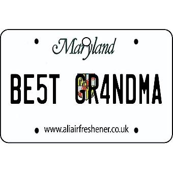 Maryland - Best Grandma License Plate Car Air Freshener