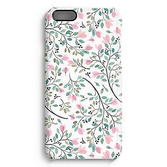 iPhone 6 Plus Full Print Fall (glänzend) - zierliche Blumen
