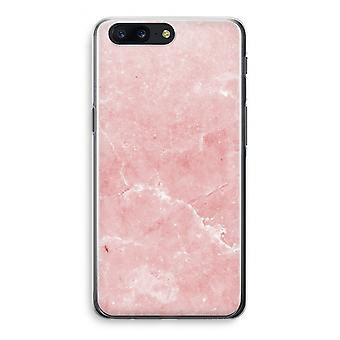OnePlus 5 Transparant Case (Soft) - Pink Marble