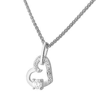 Orphelia Silver 925 kedja med hänge hjärta zirkonium ZH-7080