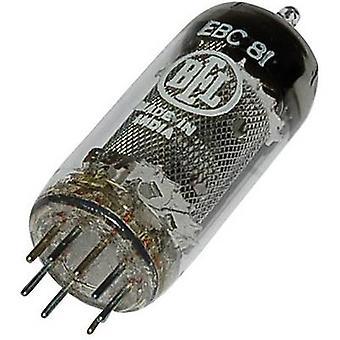 EBC 81 = 6 BD 7 A vakuumrör Dubbeldiod trioden 250 V 1 ett antal stift: 9 bas: Noval innehåll 1 st (s)