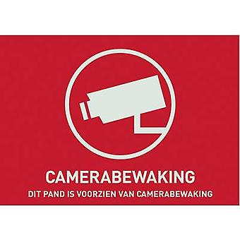 ABUS AU1304 Warning label CCTV Languages Dutch (W x H) 148 mm x 105 mm