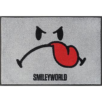 lavar + secar mat alfombra de piso lavable Smiley niños 50 x 75 cm