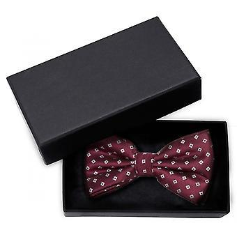 Bow tie wine red square pattern grey bow shine cross binder Fabio Farini
