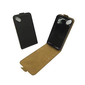 Mobile phone affaire pochette pour mobile noir ensoleillé WIKO