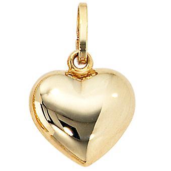 Pingente de coração de ouro ouro amarelo MODENA 333 coração pingente