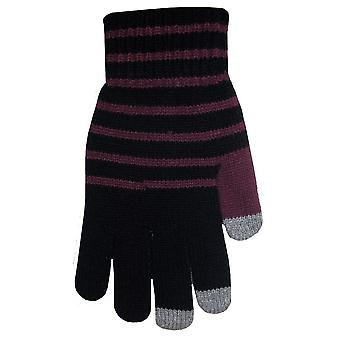 Boss Tech Knit Touchscreen Gloves, Texting Gloves, Tech Gloves (Black and Purple)