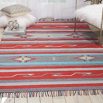 Baja Baj01 de alfombras en gris y rojo por Nourison