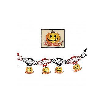 Halloween en horror Garland Halloween met pompoenen