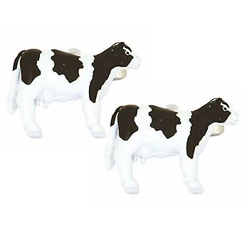 Zennor Cow Cufflinks - Black/White