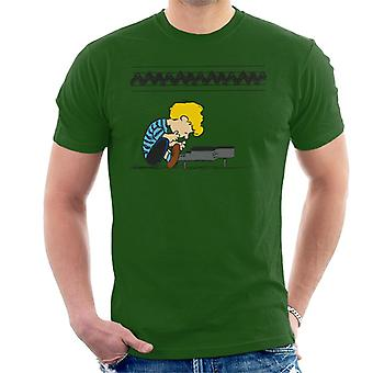 Peanuts Schroeder At The Piano Men's T-Shirt